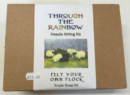 Through the Rainbow Needle Felting Sheep Kit
